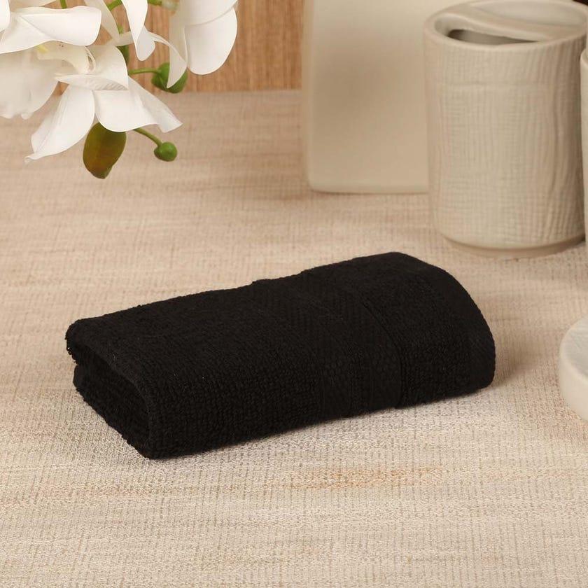 Antibacterial Face Towel, Black – 30x30 cms