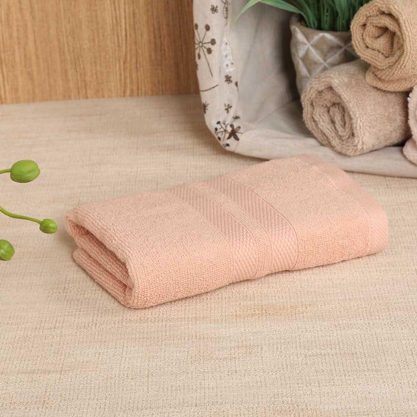 Antibacterial Hand Towel, Peach – 60x40 cms