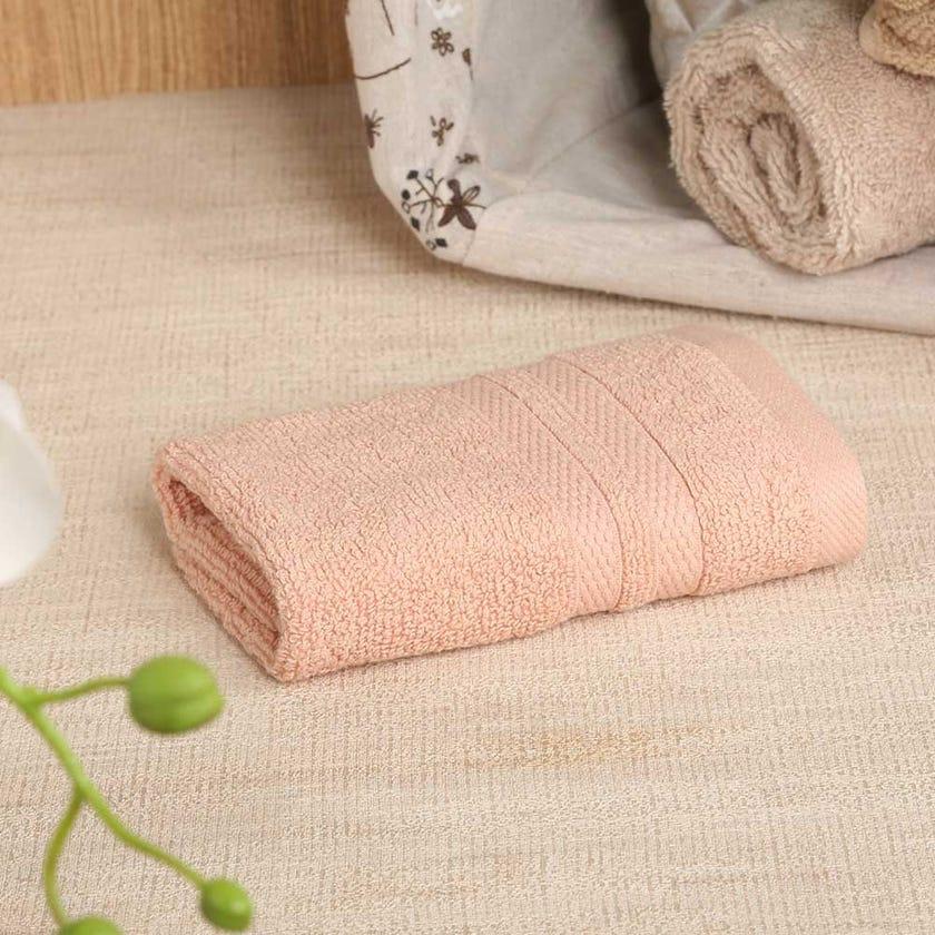 Antibacterial Face Towel, Peach – 30x30 cms