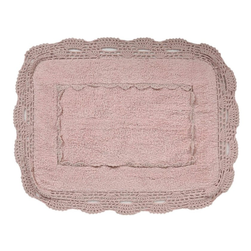 Anita Bath Mat, Pink - 60x90 cms