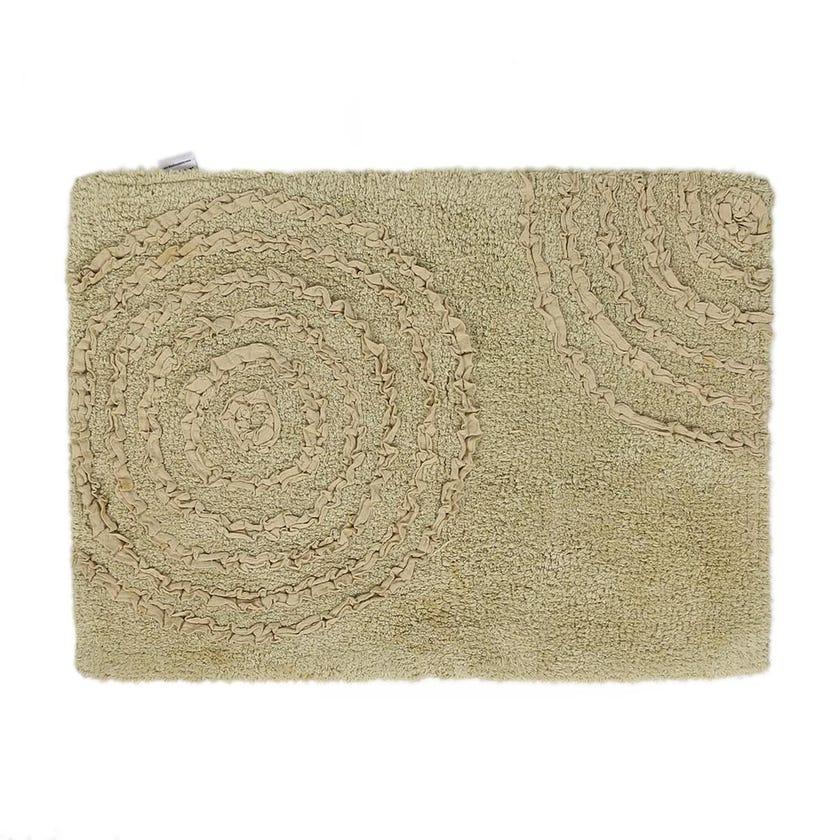 Capri Bath Mat, Green - 50x70 cms