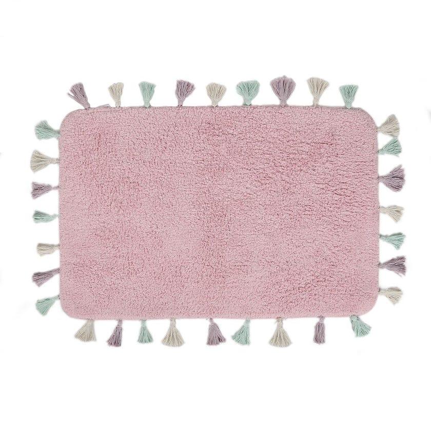 Lucca Bath Mat, Pink - 60x90 cms