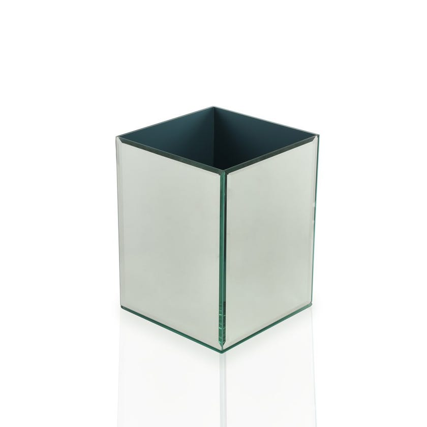 Glass Mirror Waste Bin