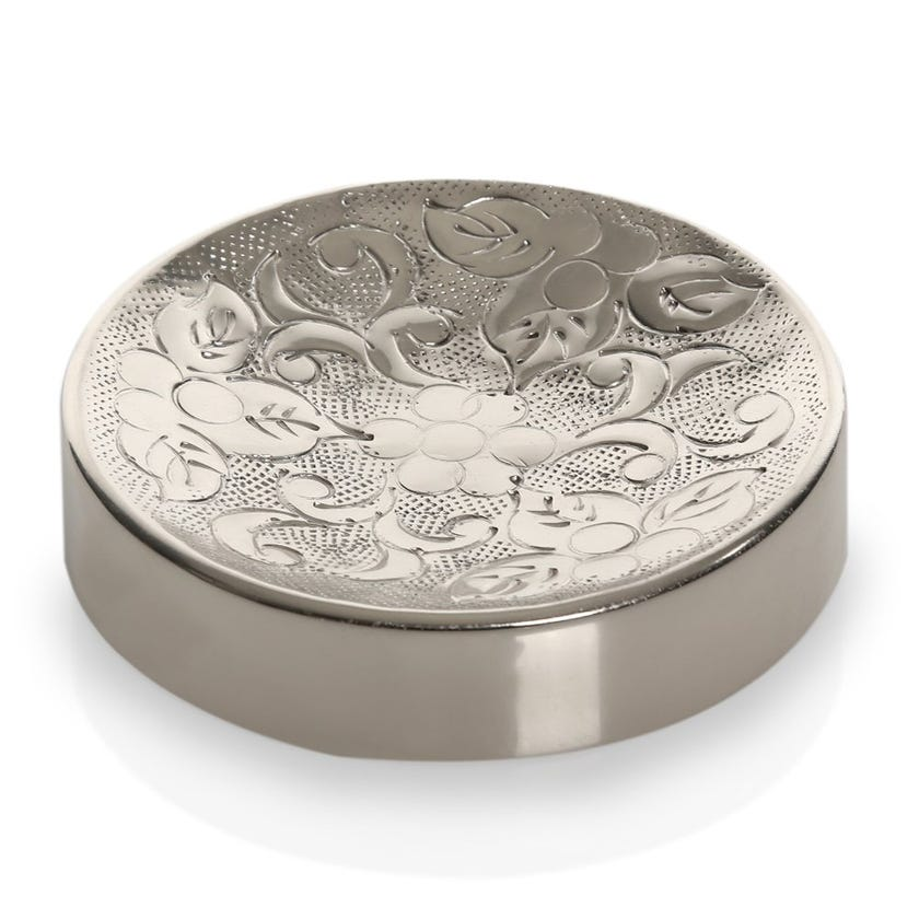 Nargis Soap Dish, Silver