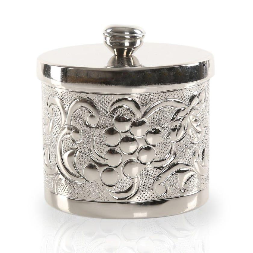 Nargis Cotton Jar, Silver