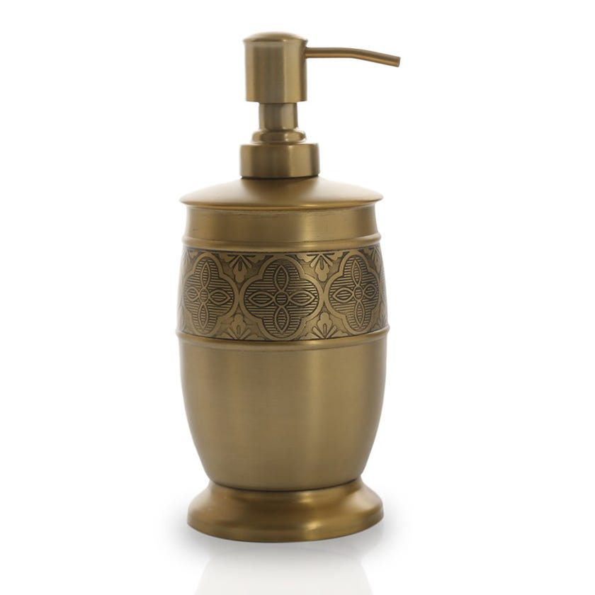 Zurin Lotion Bottle, Brushed Gold