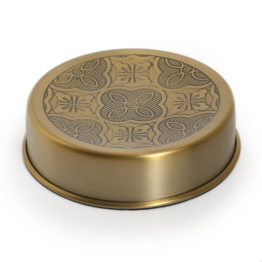 Zurin Soap Dish, Brushed Gold