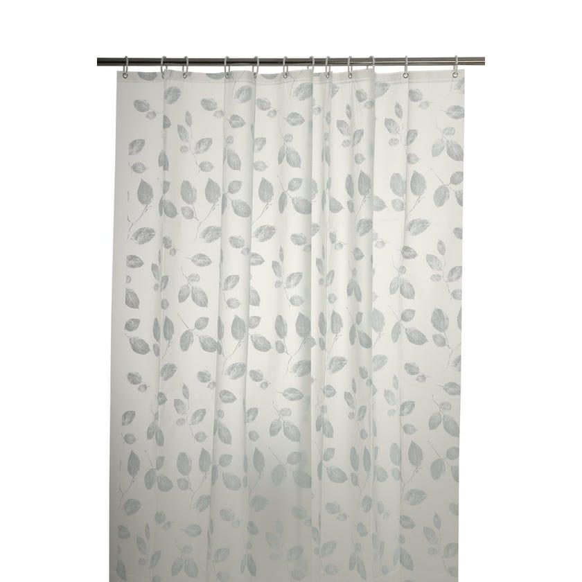 Leaf Peva Shower Curtain (180 x 200 cms, White)