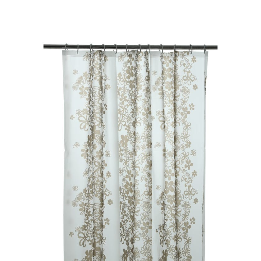 Printed EVA Shower Curtain, Lace - Gold