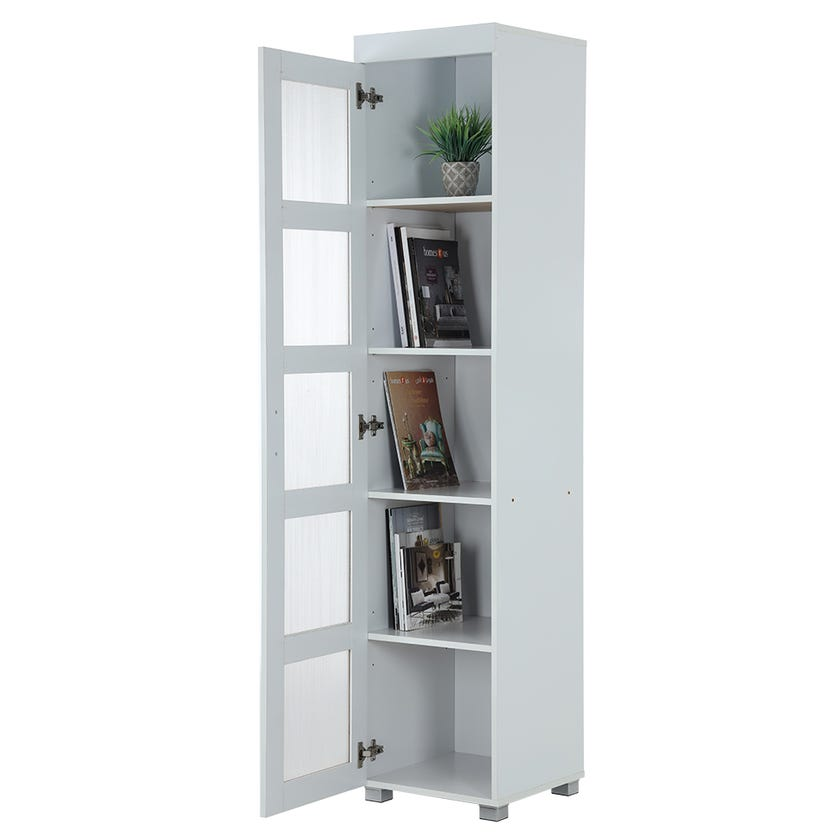 5-Tier Laundry Cabinet, White