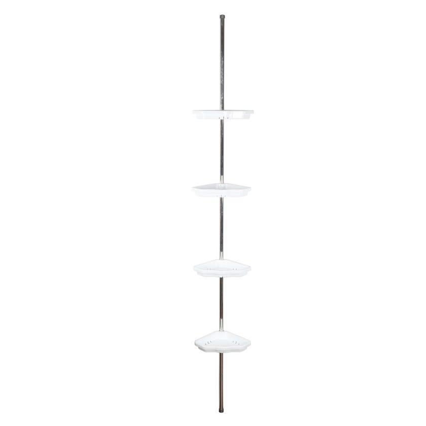 Bath Corner Shelf White - 25 x 260 cms