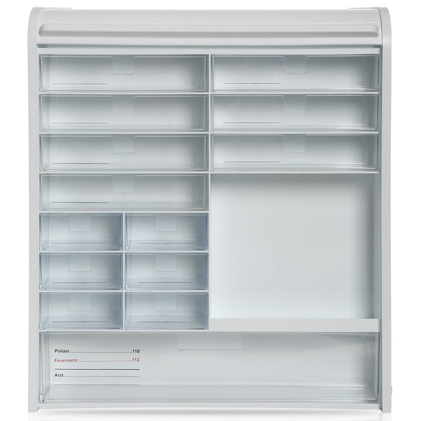 Medicine Cabinet With Drawers, White - 42 X 10 cms