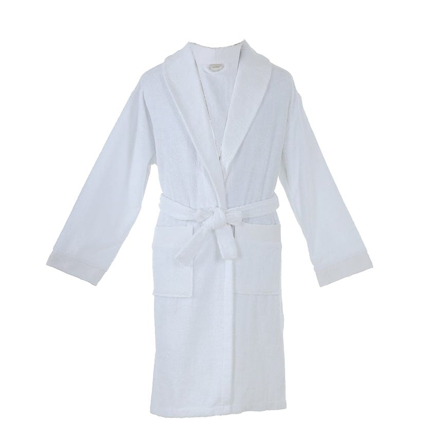 Blenda One Size Bathrobe, White