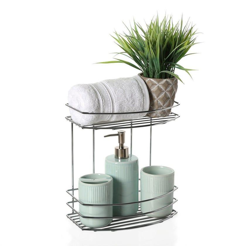 2-Tier Bath Shelf, Chrome – 15.5 cms