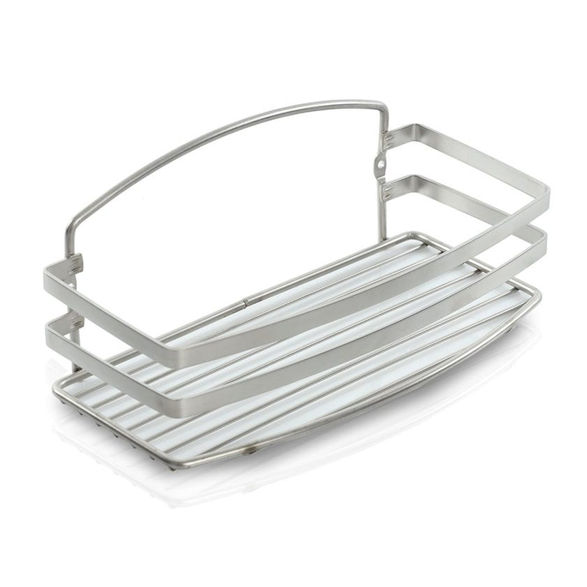 Stainless-Steel Bath Shelf, Inox Brushed