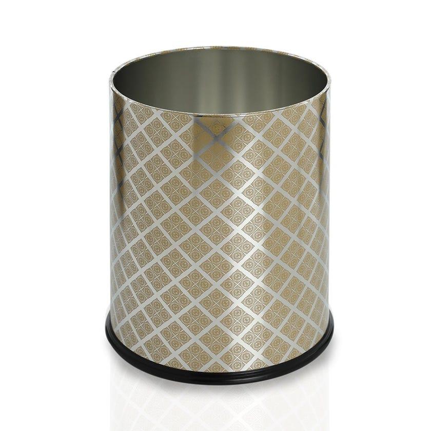 Diamond Waste Bin, Gold - 22L, 27 cms