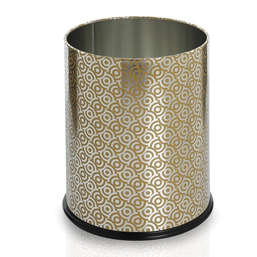Texture Waste Bin, Gold - 12L, 21 cms