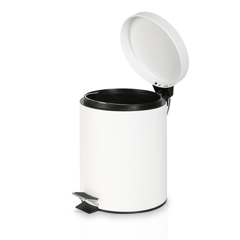 Stainless Steel Bin, White - 5 Litres