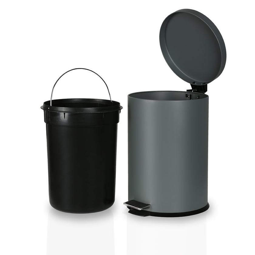 Stainless Steel Bin, Grey - 20 Litres