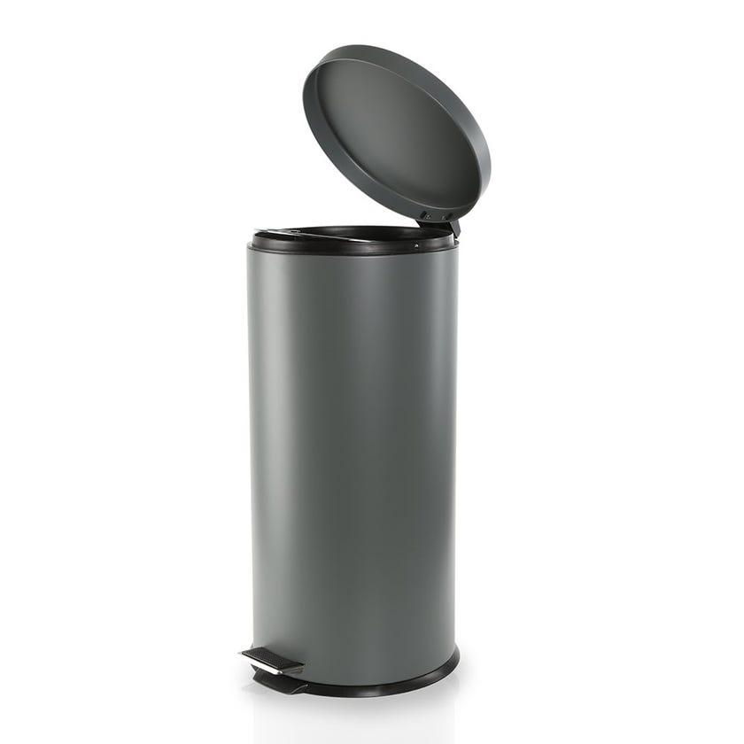Stainless Steel Bin, Grey - 27 Litres
