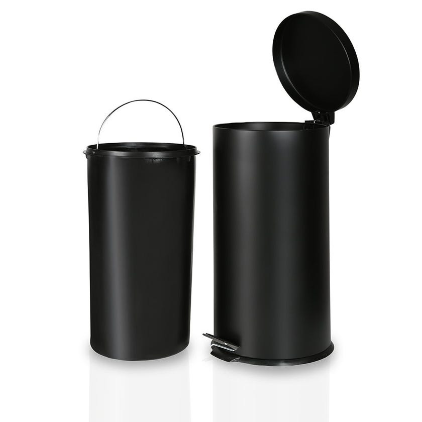Stainless Steel Bin, Black - 27 Litres