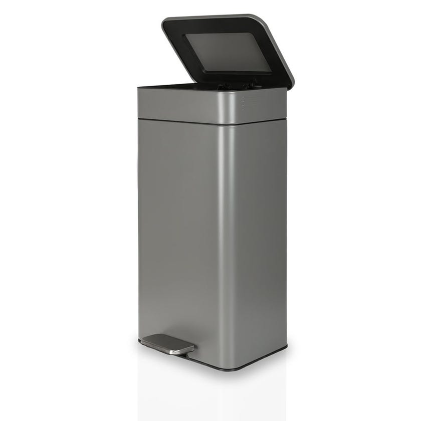 Bin With Liner, Grey - 30 Litres
