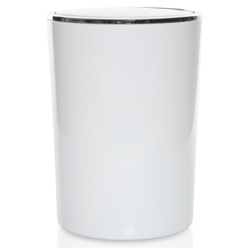 Lenox Waste Bin, White - 6 Litres