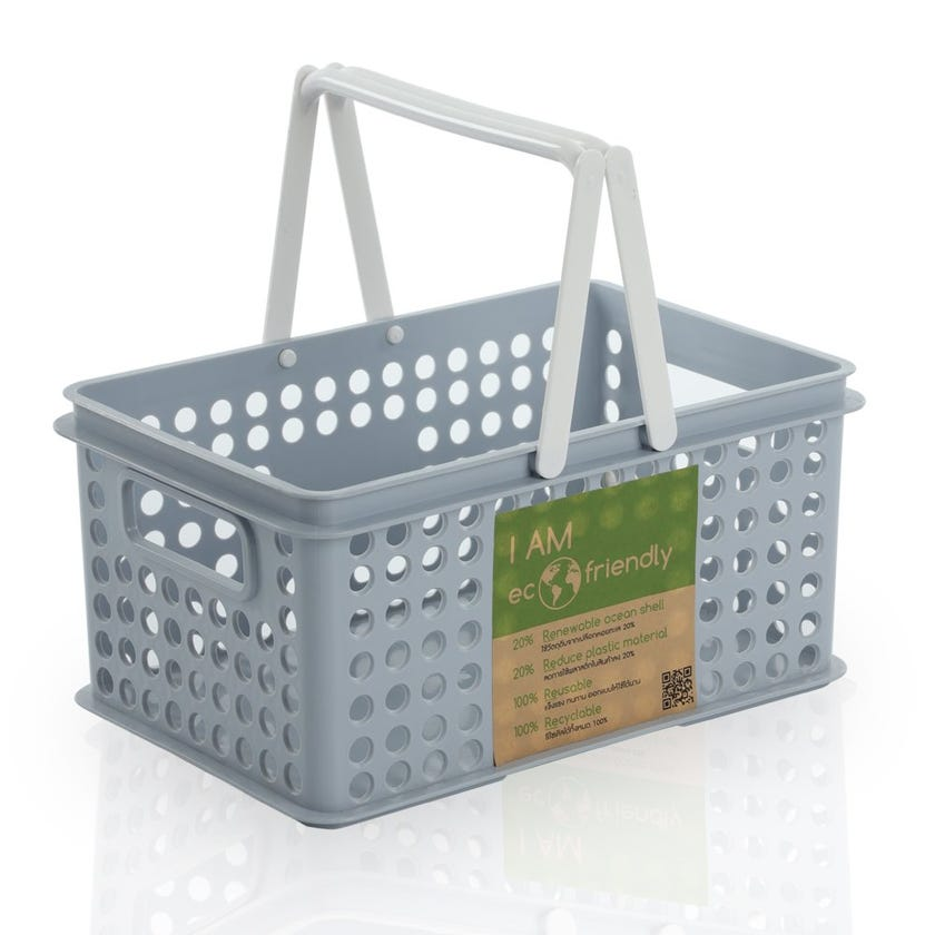 Stackable Laundry Basket with Handle, Light Blue - Small