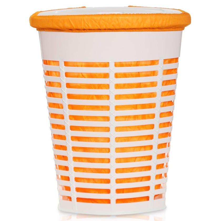 Palm Laundry Basket, Orange - 60 cms