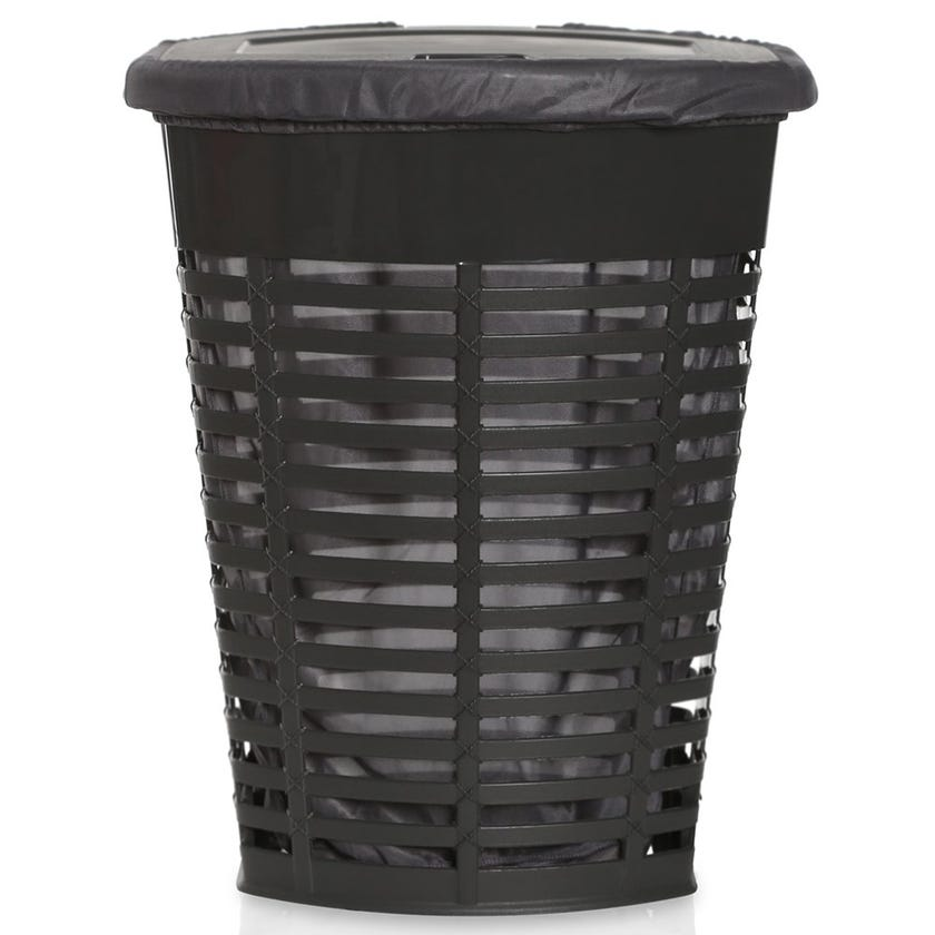 Palm Laundry Basket, Grey - 60 cms