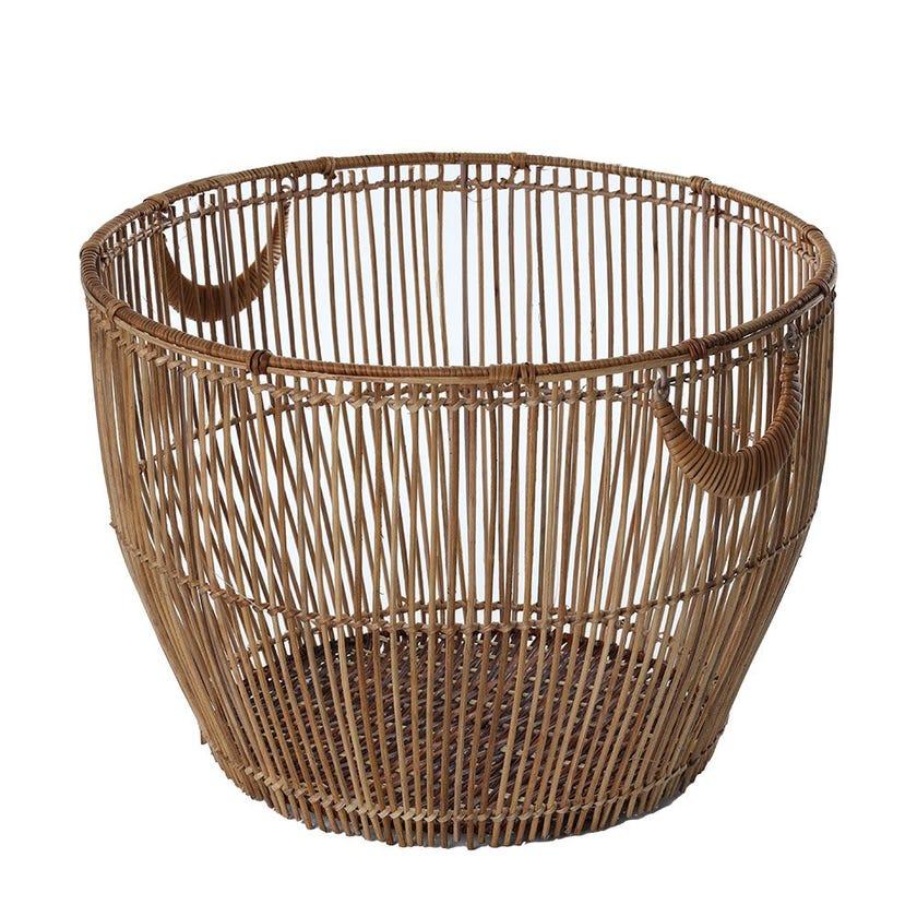 Rattan Regular Basket, Natural - Large, 48 cms