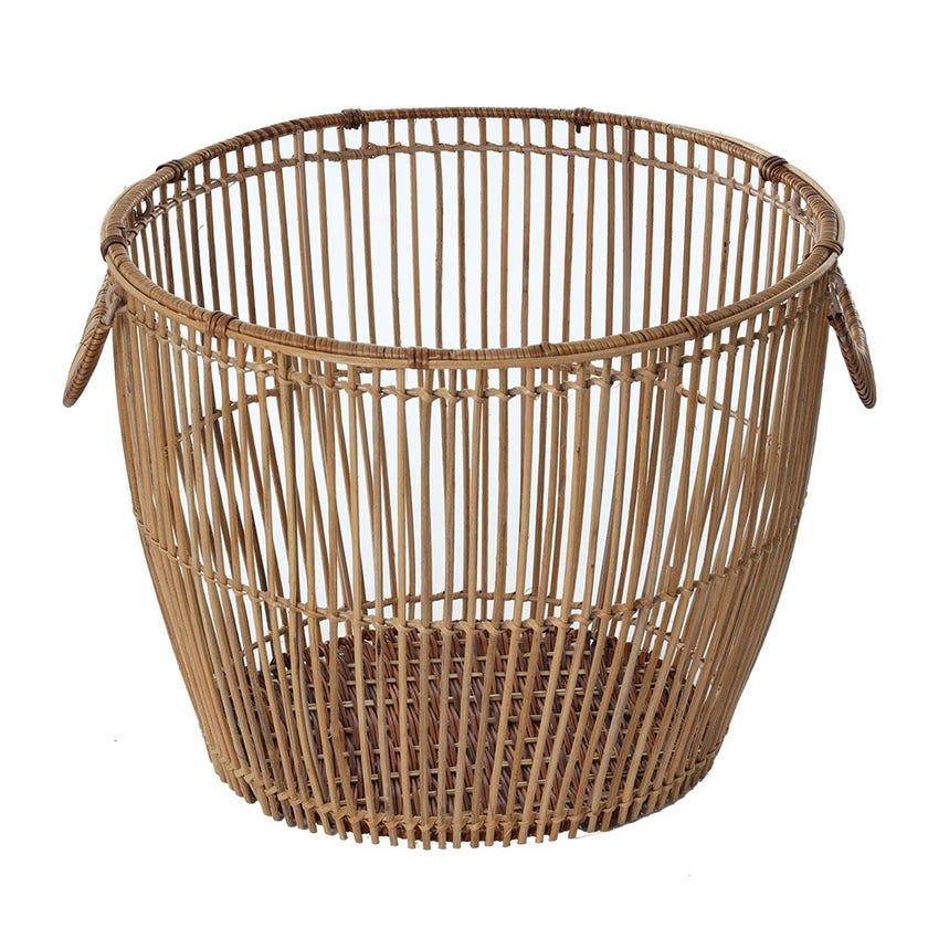 Rattan Regular Basket, Natural - Large, 37 cms