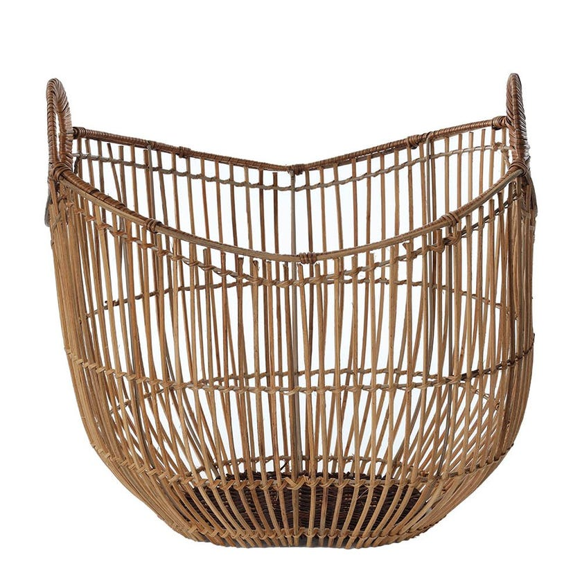 Rattan Regular Magazine Basket, Natural - Medium, 43 cms