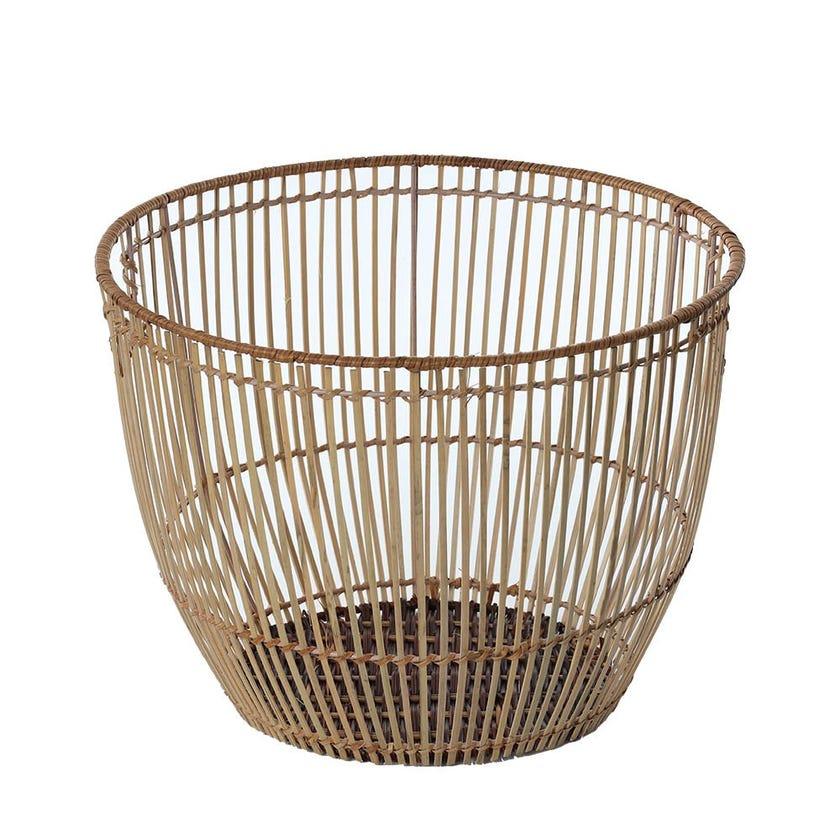 Rattan Round Basket, Natural - Medium, 41 cms