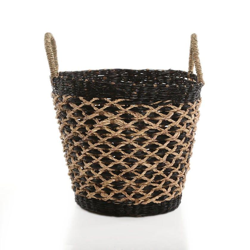 Boho Basket, Black - 26 cms