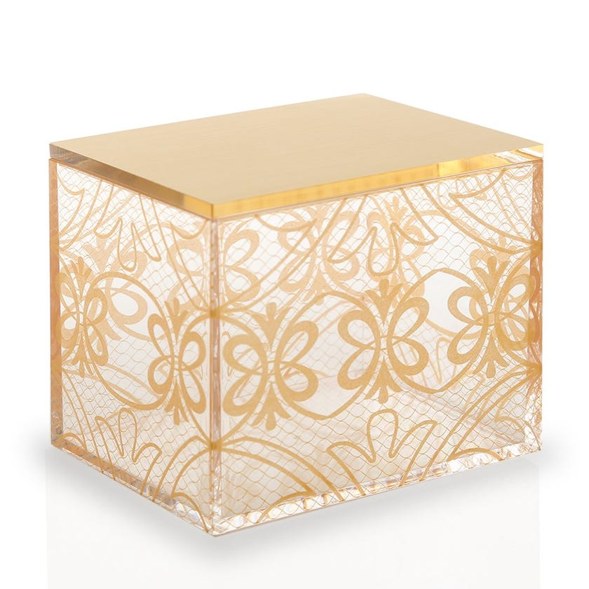 Butterfly Container with Lid, Gold - Small