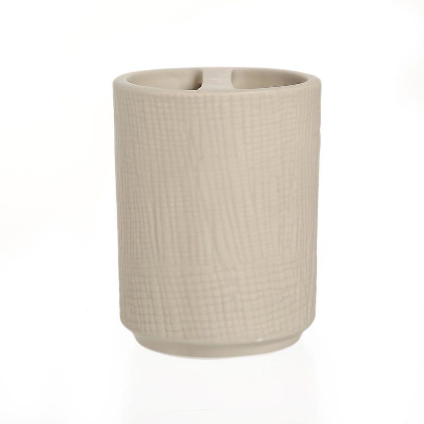 Sanah Premium Ceramic Toothbrush Holder, Taupe