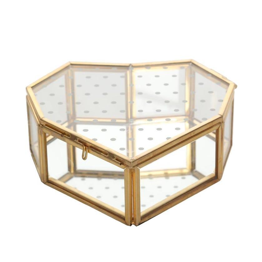 Heart Glass Box, Gold