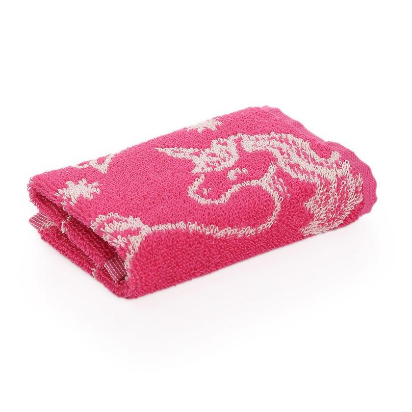 Unicorn Kids Cotton Towel, Pink - 30 x 30 cms