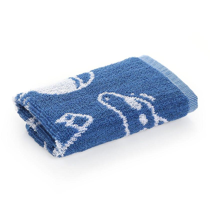 Space Kids Cotton Towel, Blue - 30 x 30 cms