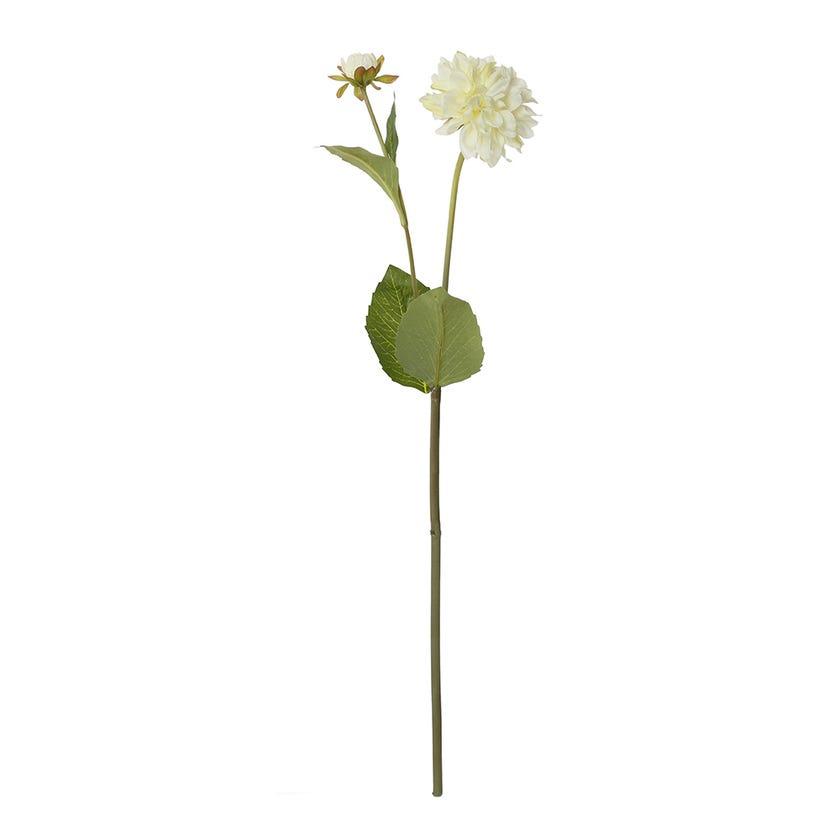 Faile Dahlia Spray, Cream & Green – 55 cms