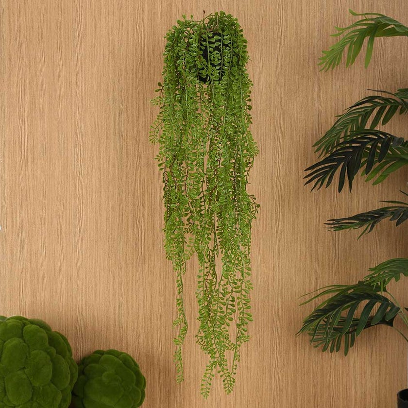 Hanging Indoor Faux Air Plant, Green