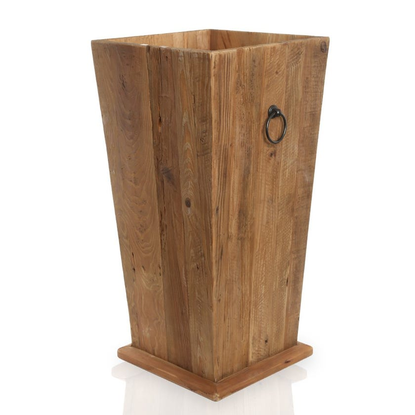 Rayyan Wooden Planter, Natural – Large