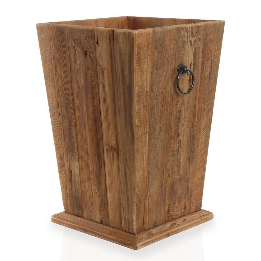 Rayyan Wooden Planter, Natural – Medium