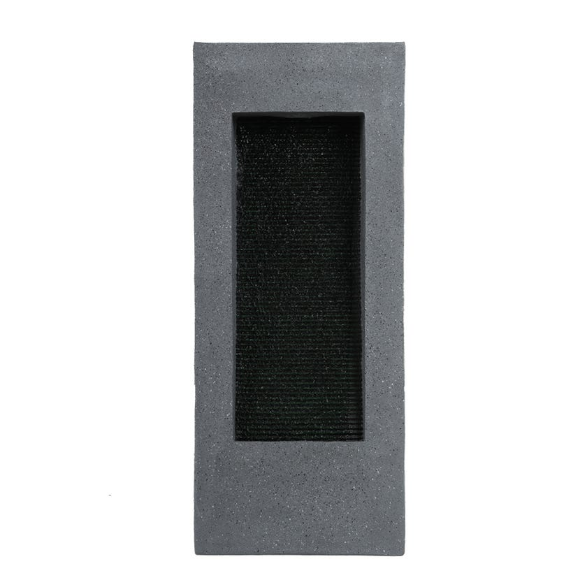 Led Contemporary Fountain, Black and Grey