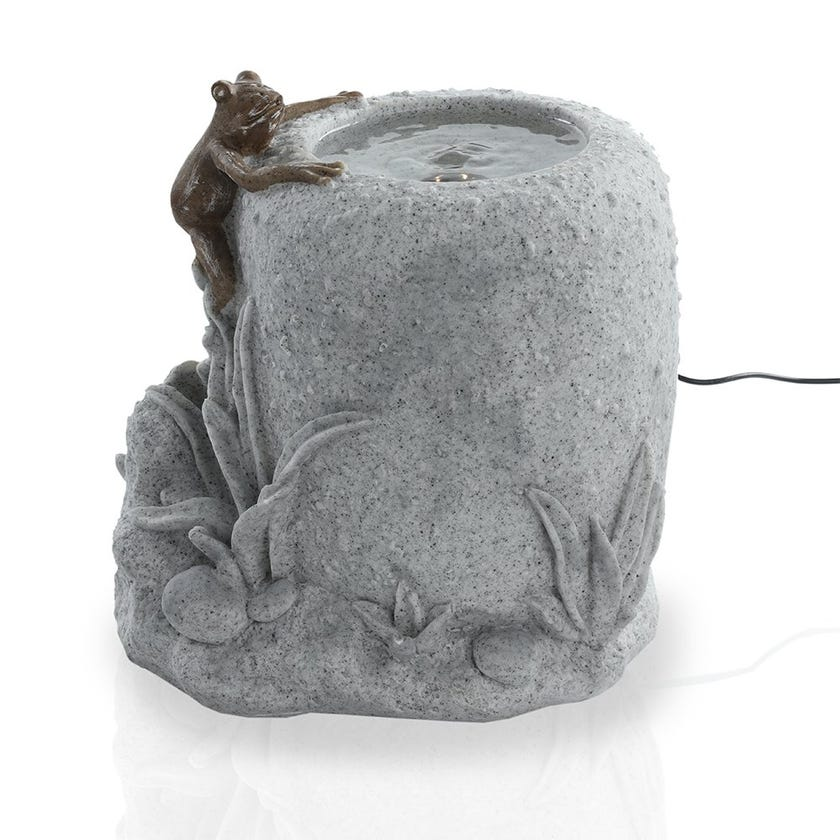 Frog Fountain With Light - 31 cms