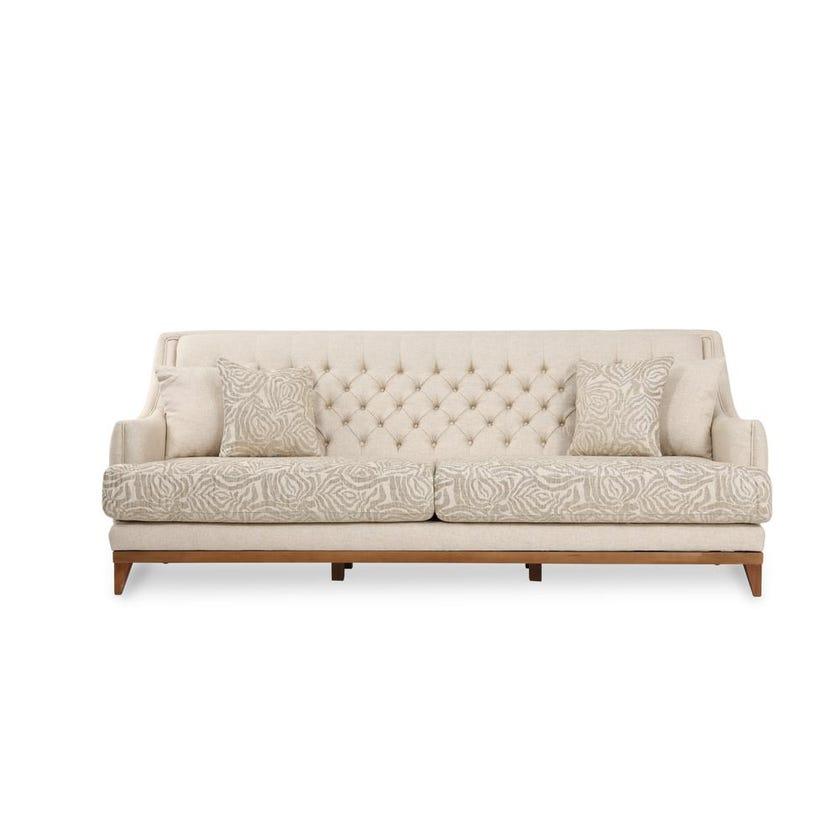 Oslo 3-Seater Fabric Upholstered Sofa