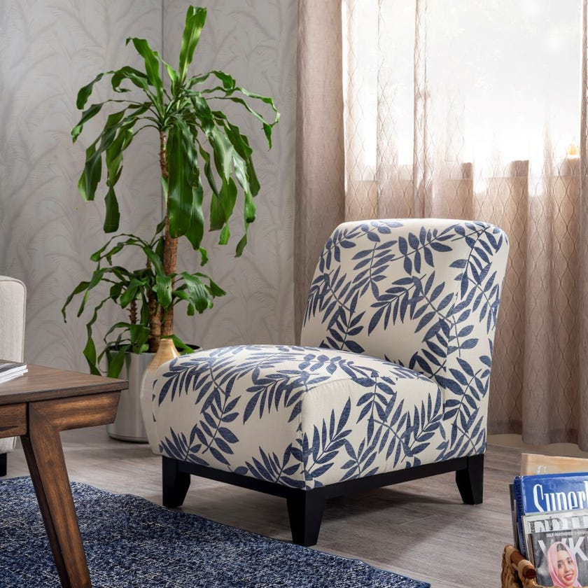 Sarah Fabric Upholstered Armchair, Beige