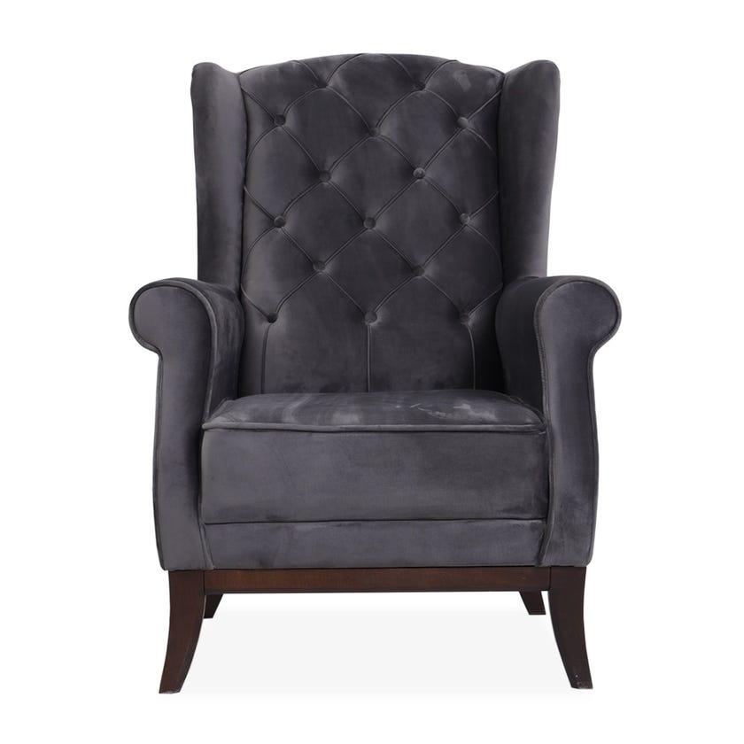 Lex Fabric Upholstered Armchair, Grey