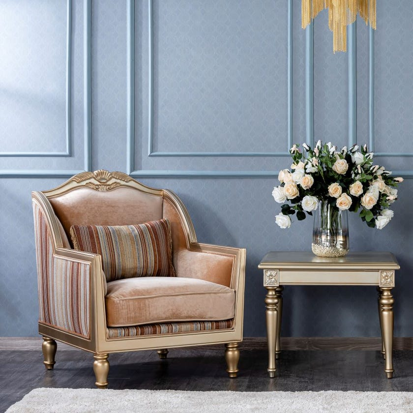 New Abyan Microsuede Upholstered Armchair